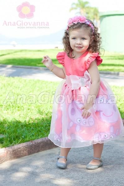 Vestidos infantis Peppa