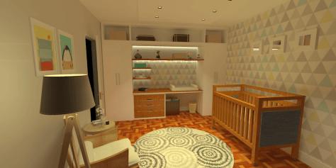 Decoração do quarto de bebê: projeto da Conexão Cool