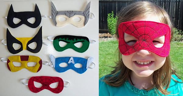 Máscaras de Super Heróis