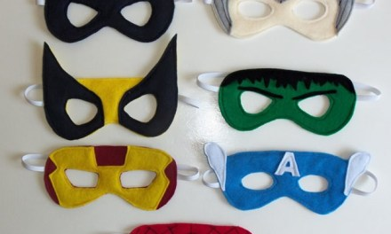 DIY – Máscaras de Super Heróis em Feltro