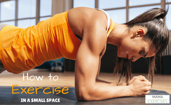 How to Exercise in a Small Space - You CAN get a great workout in! ~MamaExercises.com