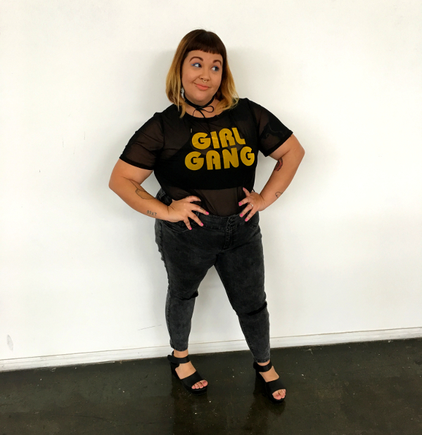 Girl Gang mesh t-shirt