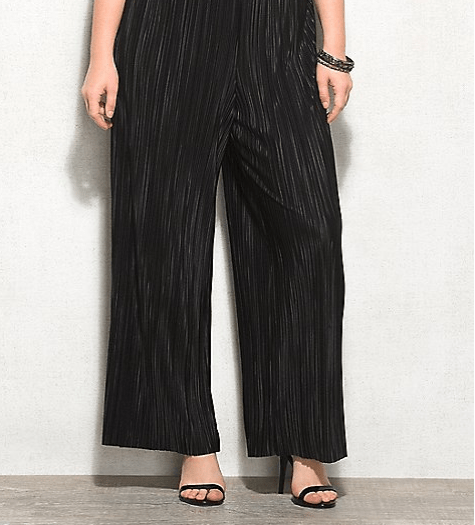 Plus Size Micro-pleat Palazzo Pants