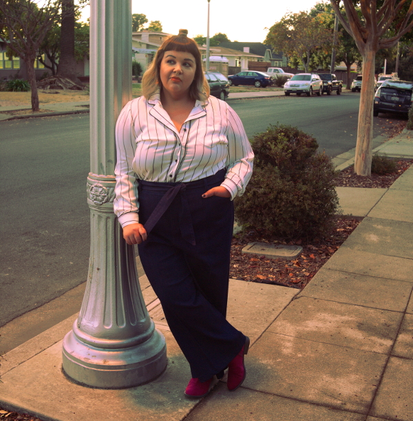 Plus size pajama blouse