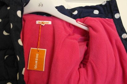 Pink fleece lining
