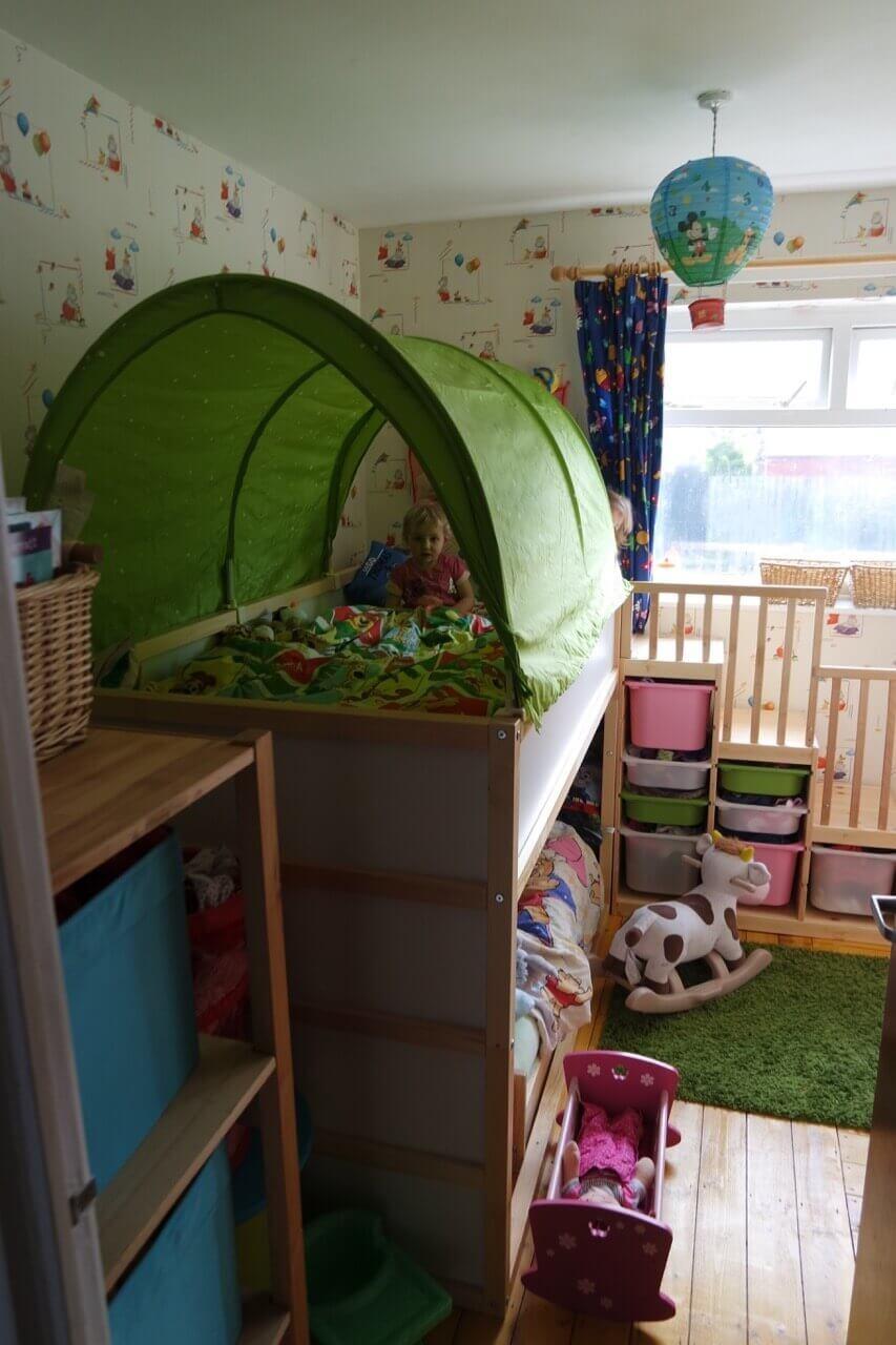 Our Quot Ikea Hack Quot Toddler Friendly Bunkbed Kura Kritter