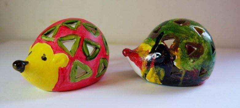 Baker Ross Hedgehog Ceramic Tealight Holders