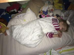 slumbersac with feet