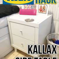 Our Ikea Hack Kallax side table
