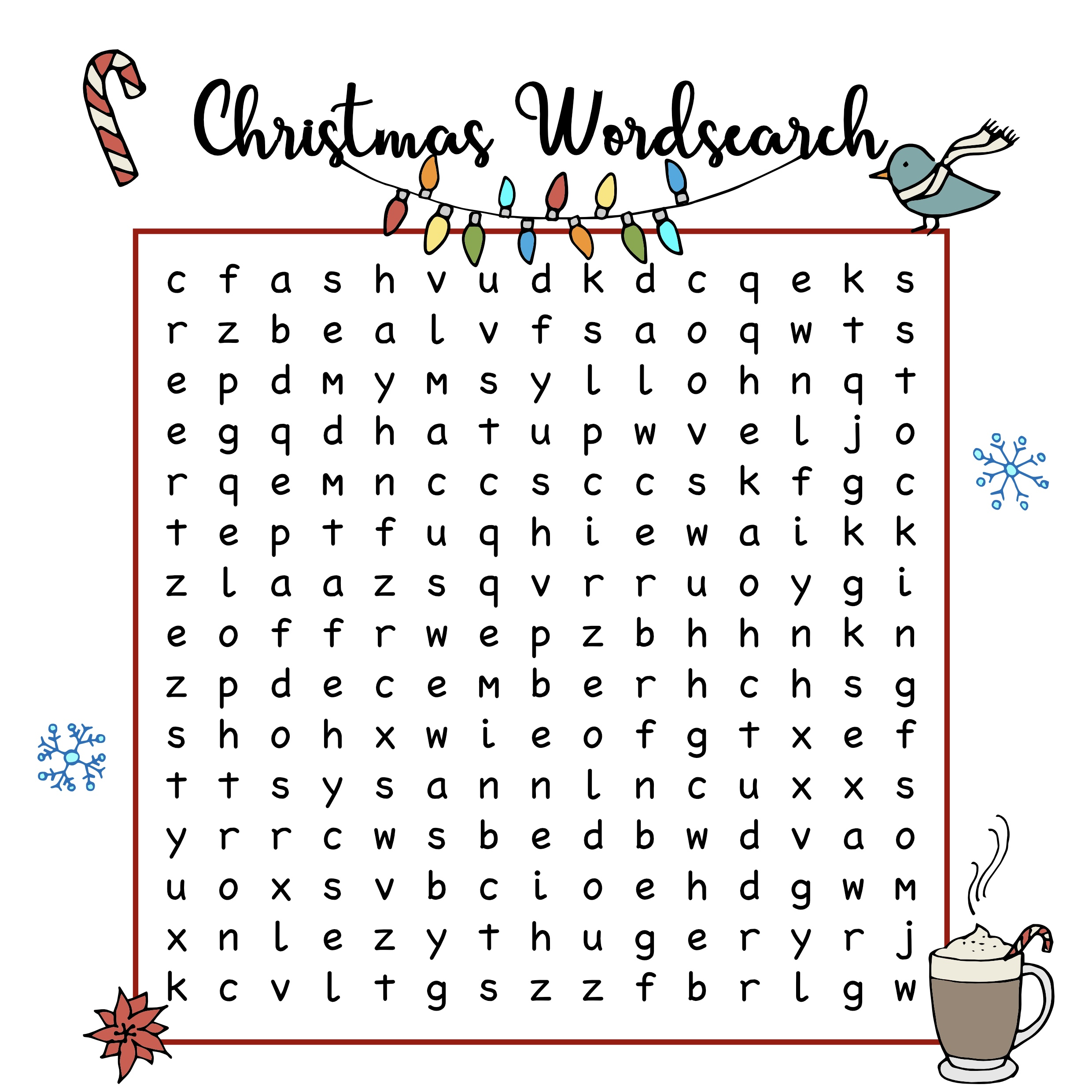 Free Christmas Printables Wordsearch