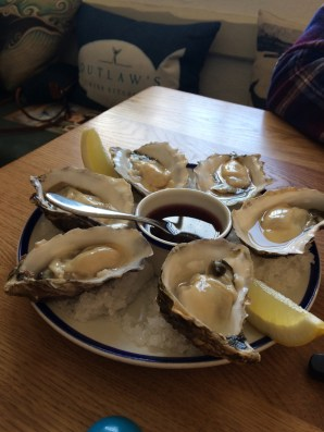Oysters at Nathan Outlaws