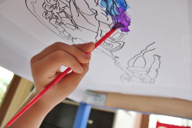 Resultado de imagen para michelangelo buonarroti sistine chapel kids painting