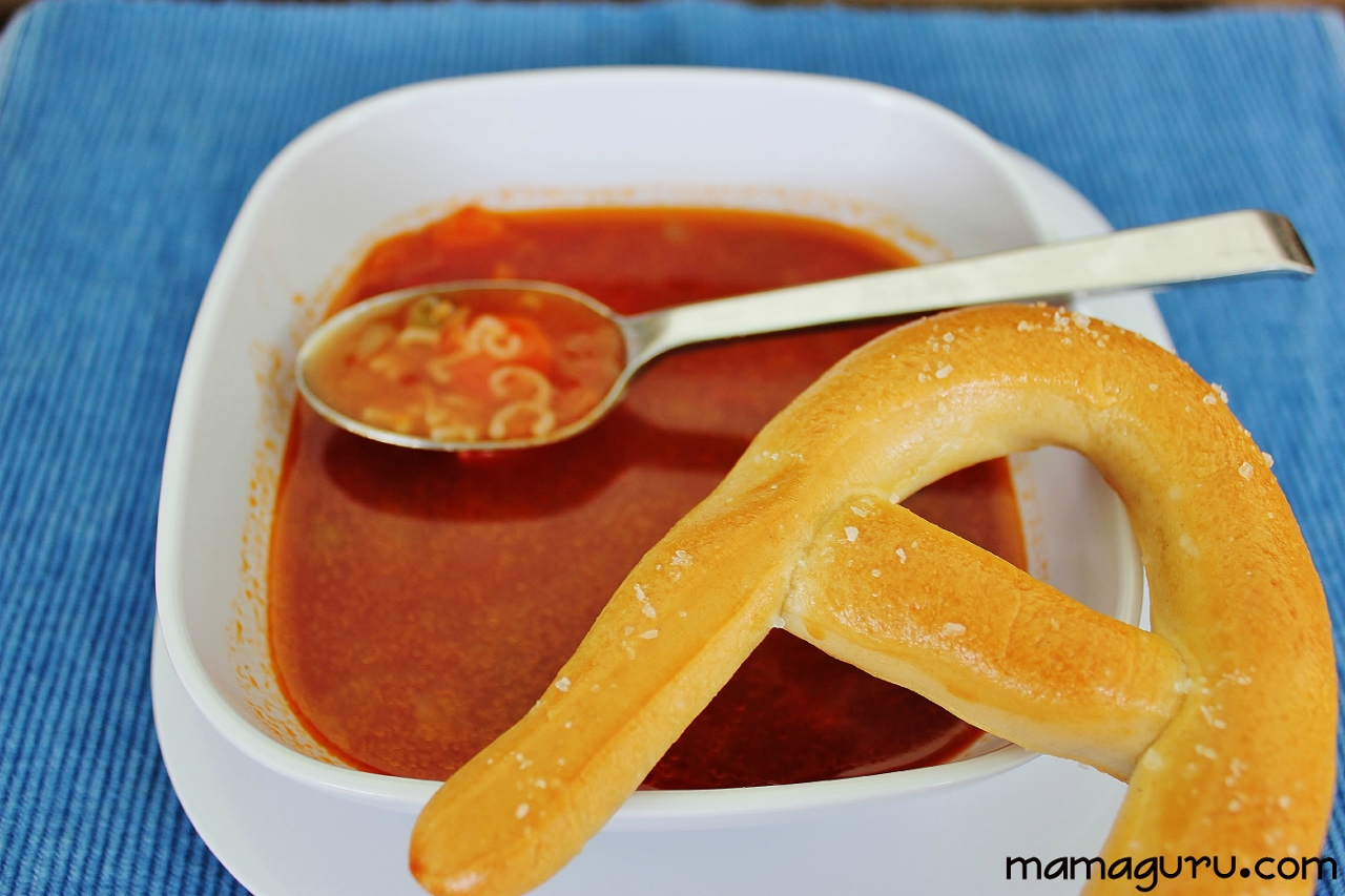 Alphabet Soup With Alphabet Pretzels Mamaguru