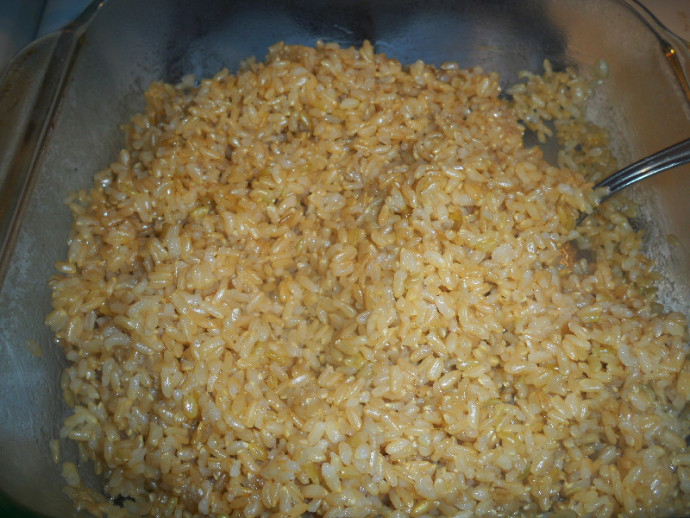 Baked Brown Rice   Mama Harris' Kitchen