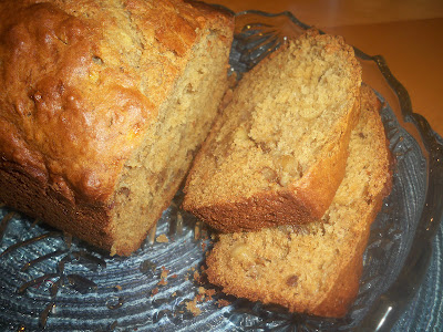 Banana Nut Bread made with Greek Yogurt