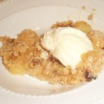 Crunchy Pear Crumble