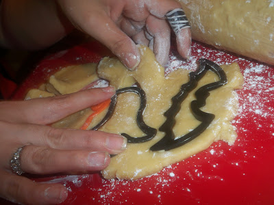 Halloween Sugar Cookies with Sugar Frosting
