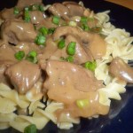Creamy Beef Stroganoff over Buttery Egg Noodles
