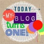 My Blog is ONE!!