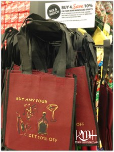 Not only do you get your pick of any wine or spirits, but you get a FREE bag! It's so cute!