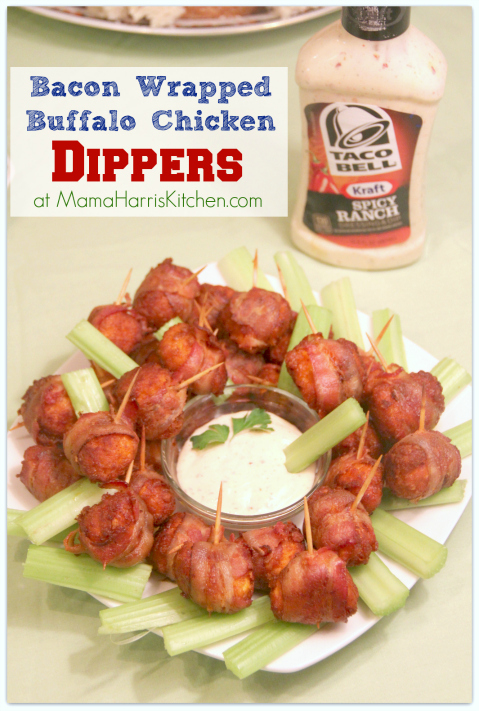 #ad Tyson #SuperMoments bacon wrapped buffalo chicken dippers #cbias 4