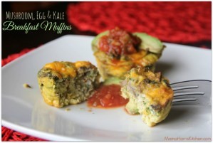 Mushroom, Egg & Kale Breakfast Muffins PLUS Week 3 of the #MushroomMakeover AD