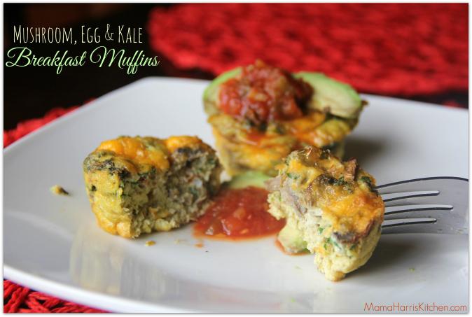 mushroom, egg & kale breakfast muffin