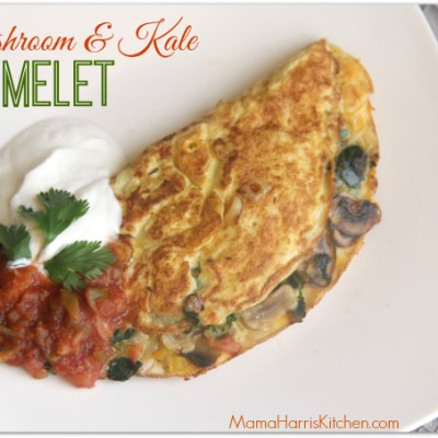 Mushroom & Kale Omelet PLUS Week 2 of the #MushroomMakeover AD