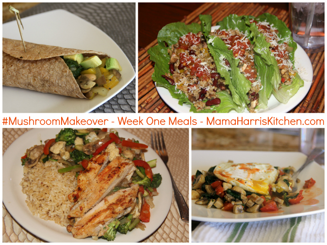 week one meals #mushroommakeover