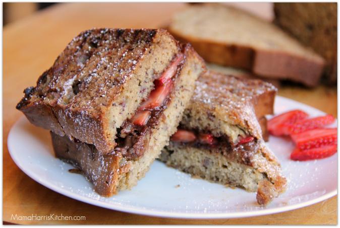 banana bread dessert panini