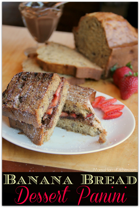 Banana Bread Dessert Panini {plus a Hamilton Beach 6-Speed Soft Scrape Hand Mixer GIVEAWAY!}
