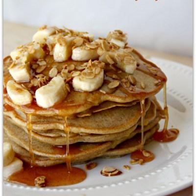 Mango Pancakes with Cinnamon Honey Syrup