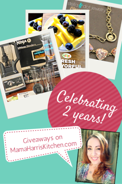 MamaHarrisKitchen celebrating 2 years with giveaways