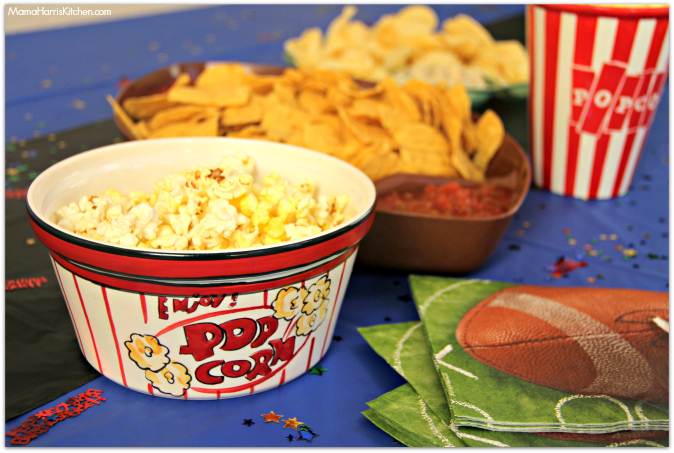 popcorn chips dips football party