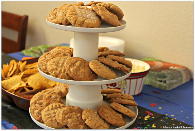 Peanut butter cookies chocolate chip cookies