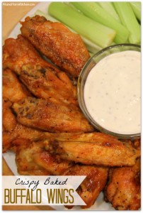 Crispy Baked Buffalo Wings #ChicksWingIt