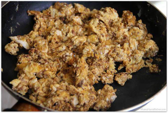 how to cook chorizo and eggs