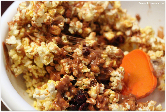 snack time with reese's spreads popcorn balls #AnySnackPerfect #shop - Mama Harris' Kitchen