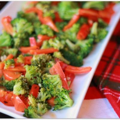 Broccoli and Bell Pepper Sauté