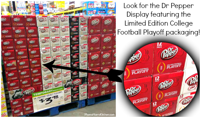 Dr Pepper Limited Edition College Championship Football #PassThePepper #ad #cbias - Mama Harris' Kitchen