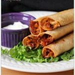 Baked Barbecue Chicken Taquitos
