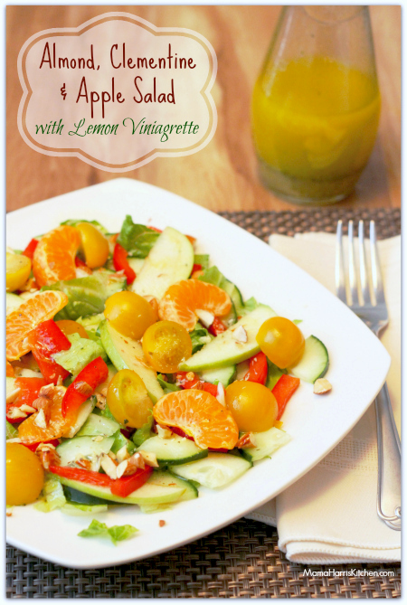 Almond, Clementine & Apple Salad with Lemon Vinaigrette