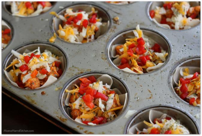 Chicken Taco Wonton Cups #WeeknightHero #ad #cbias - Mama Harris' Kitchen