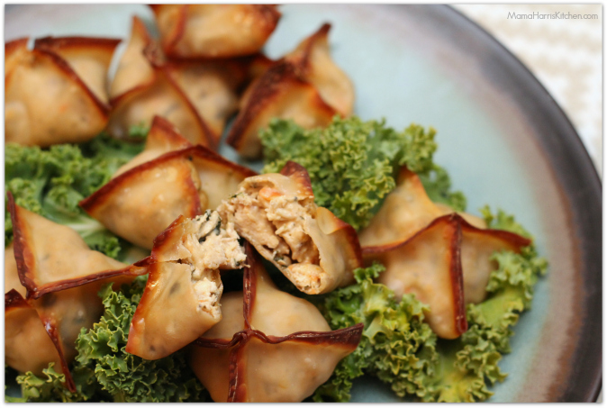 creamy mushroom chicken wonton bites #weeknighthero #ad #cbias - Mama Harris' Kitchen