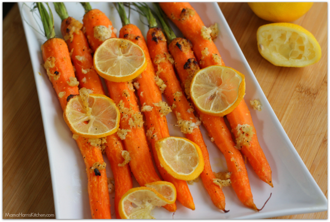 Ginger-Lemon Honey Roasted Carrots