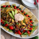 Easy Taco Salad with Creamy Habanero Lime Sauce