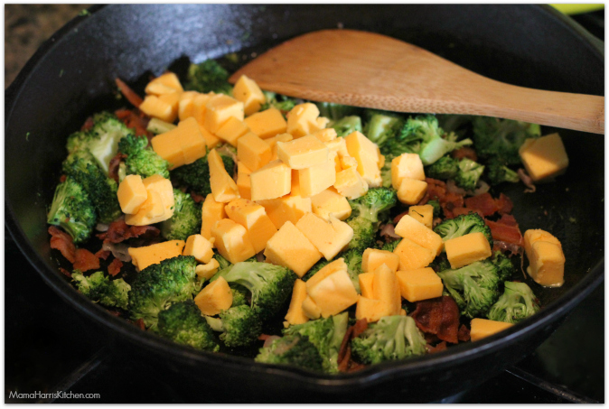 Broccoli and Bacon Frittata with VELVEETA® #LiquidGold5 (ad)