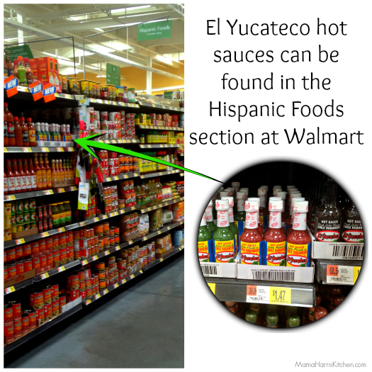 el yucateco hot sauces are available at walmart in the hispanic foods section #KingOfFlavor #ad | Mama Harris' Kitchen