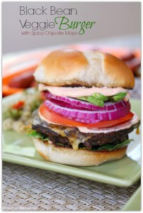 Black Bean Burgers with Chipotle Mayonnaise