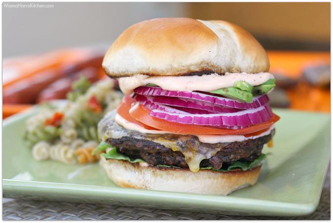 black bean burger with chipotle mayonnaise #KingsfordFlavor #cbias (AD)   Mama Harris' Kitchen